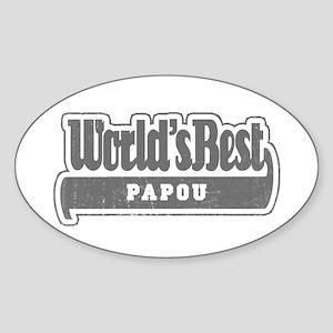 WB Grandpa [Greek] Oval Sticker